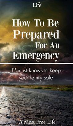 Emergency Disaster Preparedness | Kit | Water Storage | Food Storage | Plan | Shelter | Checklist | Survival
