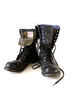 Authentic WWII CORCORAN Jump Boots  Black by aVintageVagrant
