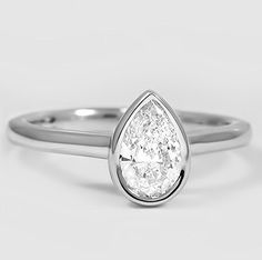 Water Droplet Diamond Ring