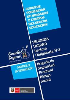 MÓDULO INTERMEDIO Brigada de Seguridad Frente al Riesgo Social CURSODE FORMACIÓN DE BRIGADAS Y EQUIPOS DELSECTOR EDUCACIÓN...
