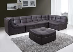 This Cloud Modular Sectional is very modish, modern and very useful for every home. This sectional is made of faux leather that is very soft, comfortable and built to last. Not only does is provide durable and a sectional to relax on, but it is very unique and can be modified to either a sectional or is flexible to adjust to your creativeness.