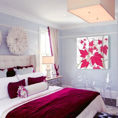 How to: Add Style to a Small Bedroom (Worthing Court) (ghost chairs provide seating but take up little visual space)