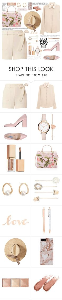 """""""Vance Joy - Call If You Need Me"""" by annaclaraalvez on Polyvore featuring Helmut Lang, Chloé, Prada, FOSSIL, Stila, Ted Baker, MANGO, Forever New, Primitives By Kathy and Hourglass Cosmetics"""