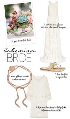 Bohemian Bridal style from NET-A-PORTER
