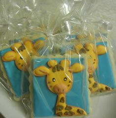 Call to action ideas baby shower gift bags Giraffe Cookies, Baby Cookies, Baby Shower Cookies, Sugar Cookies, Baby Shower Gift Bags, Baby Shower Parties, Baby Shower Themes, Baby Showers, Shower Ideas