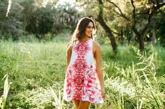 Neon Pink Abstract Sleeveless Party Dress - 11 Main