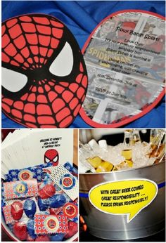 I like the little beer label in the bottom right!....Obviously the Spiderman part is not quite what I'm pinning (although it's very cute!)