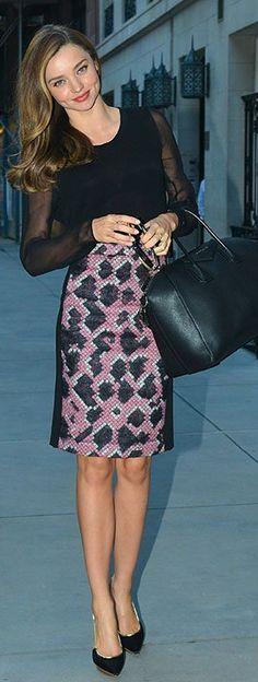 b29d762498d8 Who made Miranda Kerr s black handbag