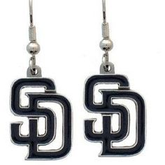 San Diego Padres MLB Dangle Earrings