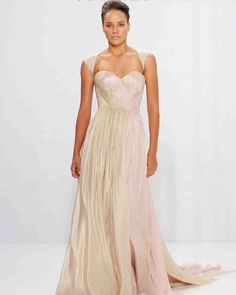 Mark Zunino for Kleinfeld Fall 2017 Wedding Dress Collection | Martha Stewart Weddings –Sleeveless A-line wedding dress