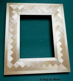 Les cadres de Manel / cadre photo en marqueterie de paille