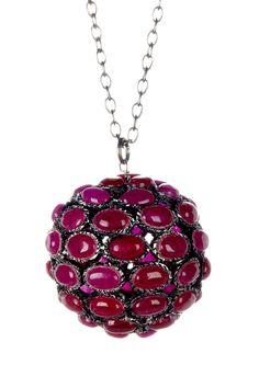 Round Ruby Pendant Necklace on @HauteLook