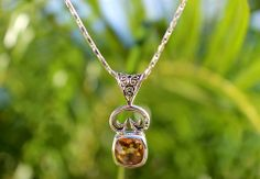 Citrine Pendant from V.I.be Collection on Saint John #usvi