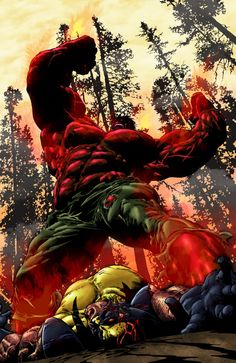 Red Hulk Vs. Wolverine  It's not over...