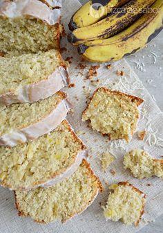 Panqué de plátano con piña & coco (banana bread) www.pizcadesabor.com