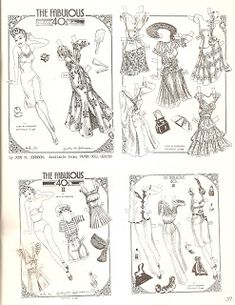 Miss Paper Doll's Boudoir Costumes. This is my favorite of ...