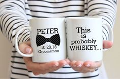 Say due to better males when using the best groomsmen items. Groomsmen Invitation, Groomsmen Proposal, Bridesmaid Proposal Gifts, Diy Gifts, Handmade Gifts, Funny Mugs, Groomsman Gifts, Mother Day Gifts, Whiskey