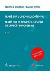 Traité sur l'Union européenne ; Traité sur le fonctionnement de l'Union européenne 5e édition