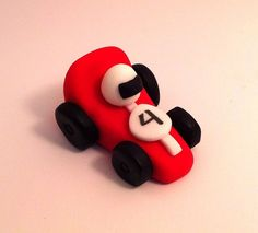 12 Race Cars Fondant Cake or Cupcake toppers, great race car cake idea for a cake topper or cupcakes