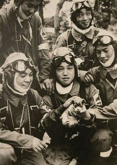 Japanese kamikaze pilots.  Too young for that nonsense.