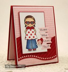 Guess Who Loves You? by strappystamper - Cards and Paper Crafts at Splitcoaststampers
