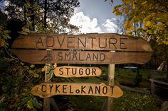 Das Schild am Eingang der TouristCamp in Langö-Tomteholm