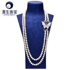 Aliexpress.com : Buy pearl jewelry 8  9mm buttom round elegant freshwater pearl necklace as sweater chain YSN012 from Reliable chain light suppliers on pearls by yuansheng
