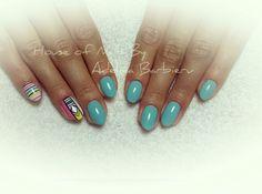 Boho nail art style Festival nails