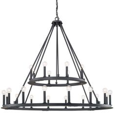 Buy the Capital Lighting Black Iron Direct. Shop for the Capital Lighting Black Iron Pearson 24 Light 2 Tier Chandelier and save. Black Iron Chandelier, Ring Chandelier, Foyer Chandelier, Farmhouse Chandelier, Wagon Wheel Chandelier, Iron Chandeliers, Chandelier Lighting, Bathroom Lighting, Farmhouse Lighting