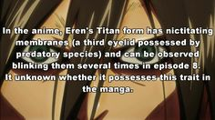 Shingeki no Kyojin facts. Anime Facts