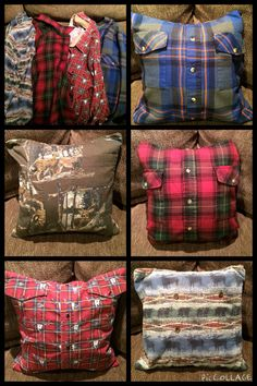 I made these pillows for a friend who lost her grandpa out of his flannel shirts. Such a great way to remember our loved ones. ❤️
