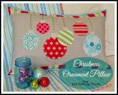 Christmas Ornament Pillow Tutorial