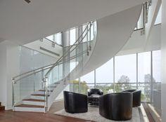Circular steel stair