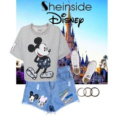 Where the dreams come true by carolinamizan on Polyvore featuring polyvore, fashion, style, Paul & Joe Sister, Converse, Pearls Before Swine and Disney