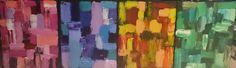 United Colors (4x châssis entoilé coton 41x33 Acrylique)