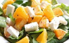 Oranges, Feta and Avocats Salad Salad Recipes, Diet Recipes, Vegan Recipes, Cooking Recipes, Feta, Italian Appetizers, Antipasto, Summer Salads, Cooking Time