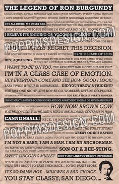 Anchorman Quote Poster