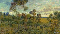 """Sunset at Montmajour"" - A new Vincent Van Gogh's painting identified // Other than loving Van Gogh and his works, I also find it interesting there was something blue in the distant left. Maybe a certain timelord and his TARDIS stopped by at Montmajour?"