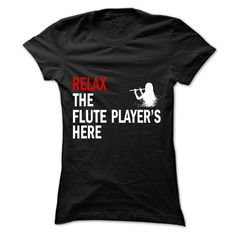 Flute player here T-Shirts, Hoodies. Get It Now ==> https://www.sunfrog.com/No-Category/Flute-player-here-Ladies.html?id=41382