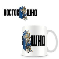 Taza Doctor Who. Tardis con Doctores