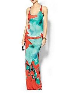 YOUNG FABULOUS & BROKE Hamptons Blue Flower Maxi Dress, Sz Small, S, Sold out