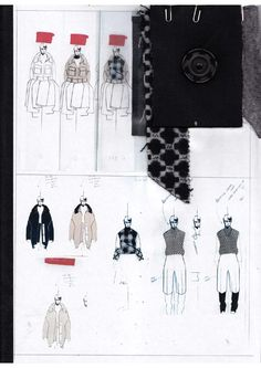 Fashion Design Sketchbook - fashion drawings & fabrics, fashion student collection development // Andrew Voss