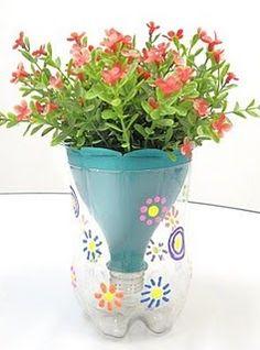 Espaço Criativo: vasos de planta reutilizando garrafas PET!
