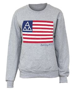 Living The American Dream Crew Neck Sweatshirt. Would be so cute w sigmas instead of deltas obviously