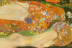 Gustav Klimt Water Snakes Friends II Art Print by Gustav Klimt