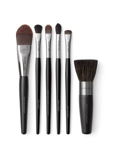 Mary Kay Brush Collection - This luxurious makeup brush set includes a powder brush, cheek brush, eye color brush, eye crease brush and eyeliner/eyebrow brush – all with handcrafted handles for maximum control.    Polished and professional application every time.  Each brush is customized to help you get exactly the look and effect you want.  Highest-quality bristles.