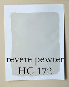 Picking the Perfect Gray Paint {Revere Pewter}-  Revere Pewter-  living room color, the winner!