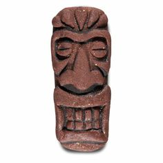 Nail Art How To Brown Sculpted Tiki Mask Nails! 3d Nails, Acrylic Nails, Nails Inspiration, Painting Inspiration, Hawaiian Nails, Tropical Nail Art, Tiki Mask, Sculpting, Crafty