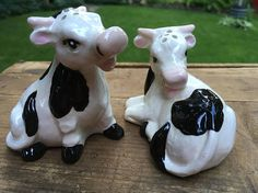 Holstein Cow Ceramic Salt and Pepper Shakers Milk Cow