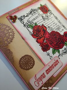 Carte Anniversaire - Vintage